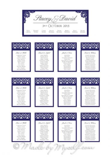 Damask Table Plan
